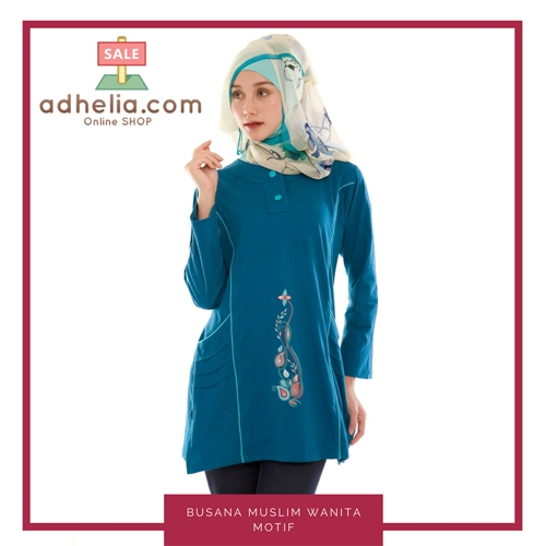 Tunik Dress / Atasan Muslimah / Busana Muslim Wanita Motif - T 33