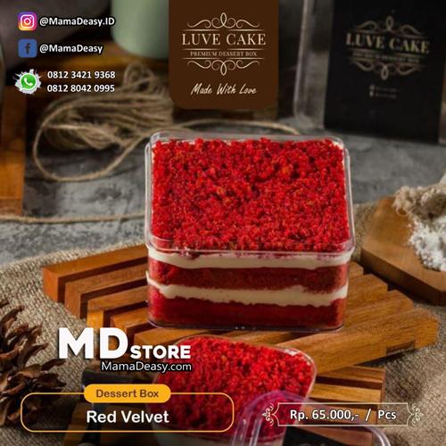 Dessert Box Premium Luve Cake - Red Velvet
