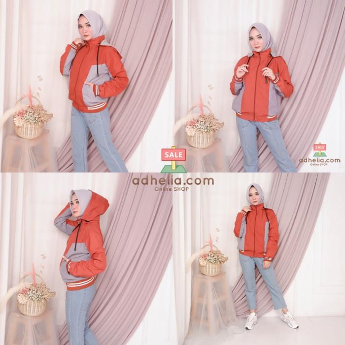 Jaket Boomber / Jaket Parasut Premium Orange