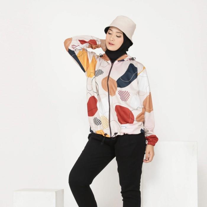 Jaket Hoodie Wanita Premium Basic Printing - (Hanna Jaket)