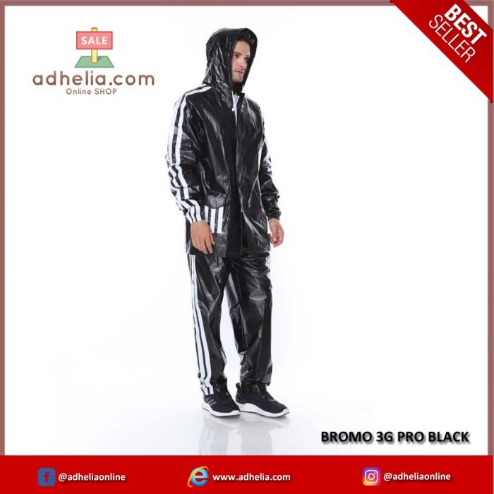 Jas Hujan Bromo - BROMO 3G PRO BLACK