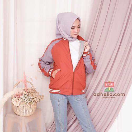 Jaket Boomber Bolak-Balik / Jaket Parasut Premium Orange