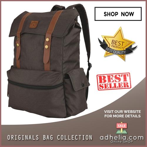 Tas Ransel Laptop / Backpack Casual Vintage Unisex Pria Wanita - MB 003