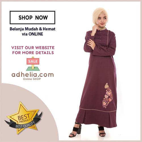 Gamis Wanita / Tunik Panjang / Busana Muslim Wanita - G 36