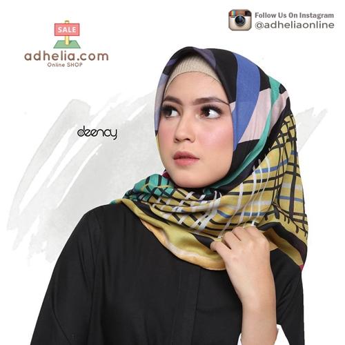 Hijab Printing / Jilbab Segi Empat Deenay - CARIN