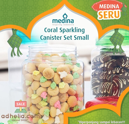 Coral Sparkling canister Set Small (Set of 3)
