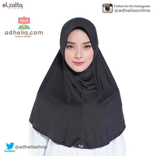 Elzatta Hijab / Hijab / Hijab Instan / Bergo / Elzatta Basic / E002 HITAM