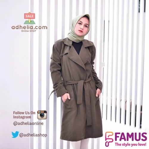 Blazer Muslimah Hijaber / Long Cardi / Jaket Jas Blazer Wanita - FAM 003