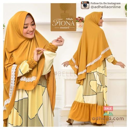 Gamis Syari / Dress SyarI / Setelan Gamis + Khimar - FIONA