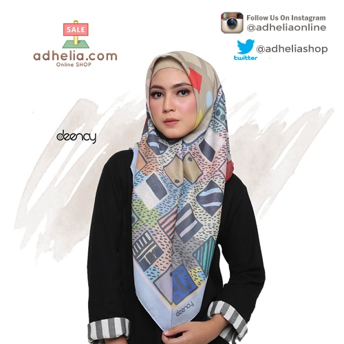 Hijab Printing / Jilbab Segi Empat Deenay - RACHEL