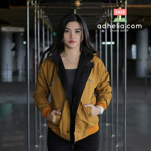 Jaket Motor Outdoor / Sweater Bolak Balik Windproof Wanita - ROW 021