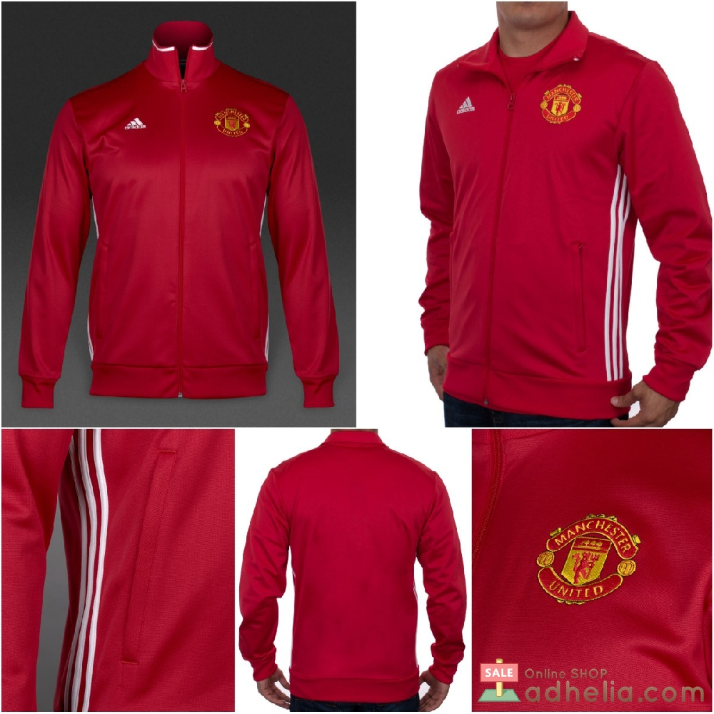Toko Online Manchester United 3 Stripes Track Top Jacket 2016/17