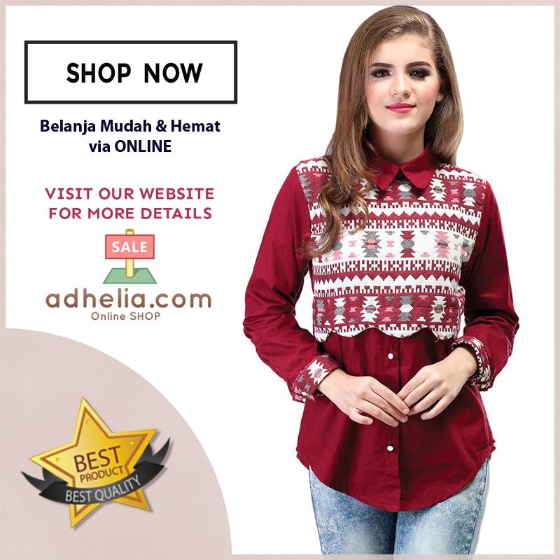 Atasan Wanita Motif Batik Trendy - SRS 482